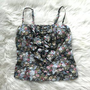Body Central Floral Padded Tank Top